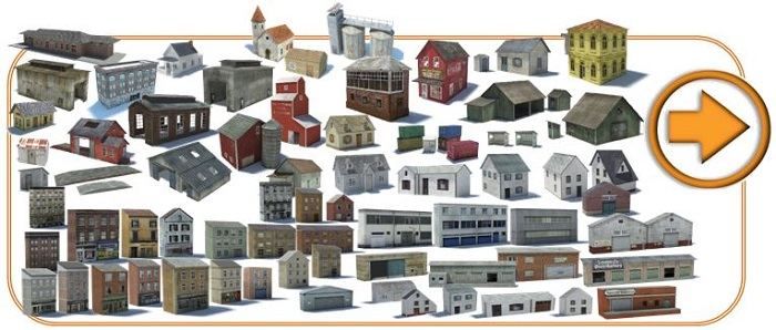model railroad buildings